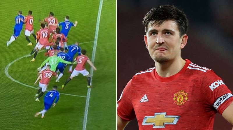 Harry Maguire Kept Five Everton Players Onside For Late Equaliser
