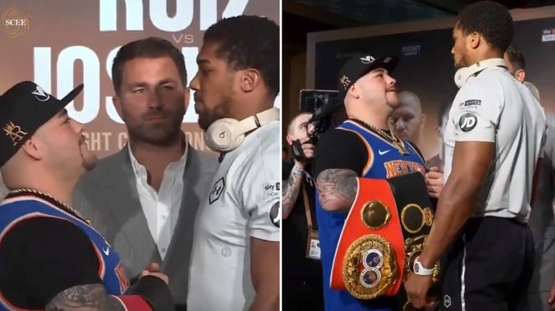 Andy Ruiz Jr Brilliantly Shuts Down Heckler During Face Off With Anthony Joshua