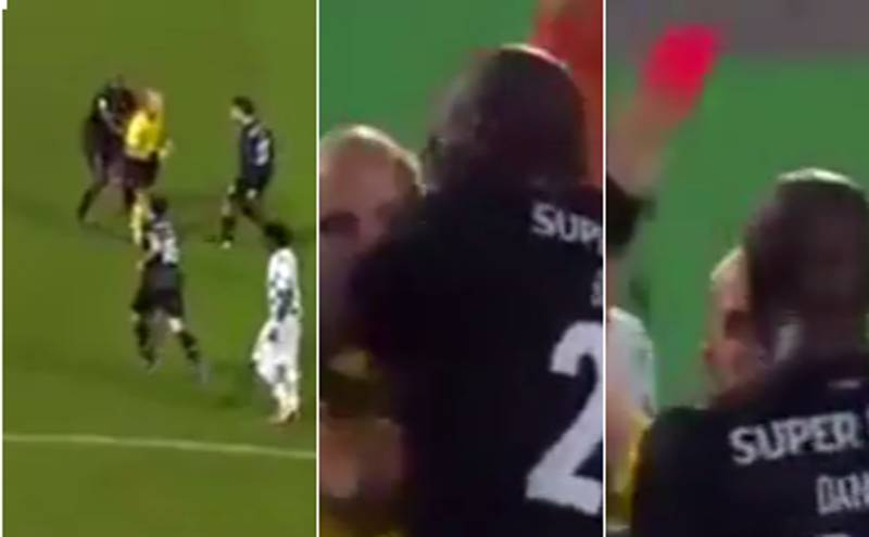 WATCH: Porto's Danilo Sent Off After Referee Treads On Him