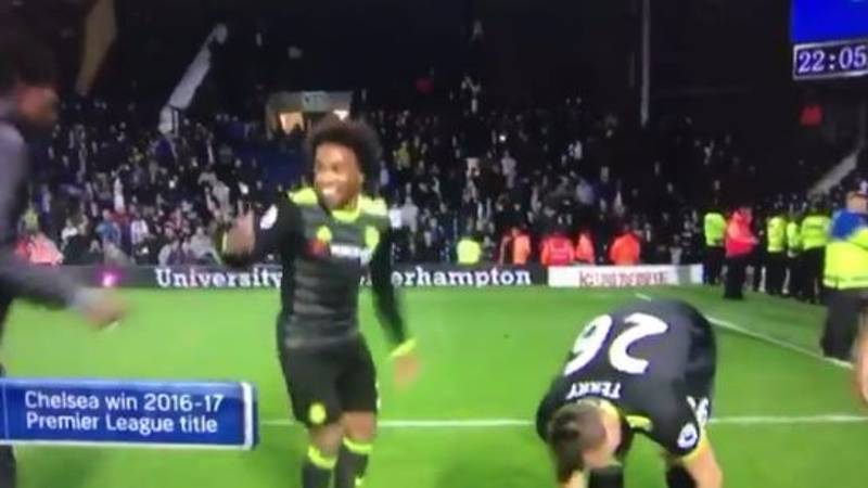 WATCH: Willian Sings Anti-Spurs Song With Chelsea Fans