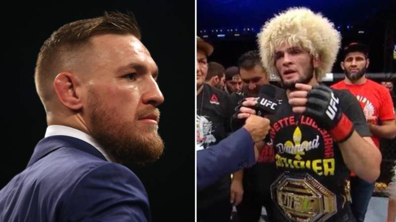 Khabib Nurmagomedov Taunts Conor McGregor After Submitting Poirier At UFC 242