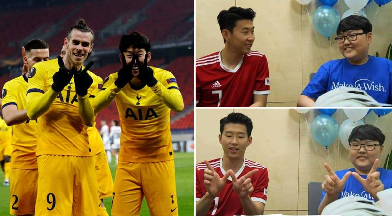 Son Heung-Min And Gareth Bale Celebration Was For Make-A-Wish Cancer Patient