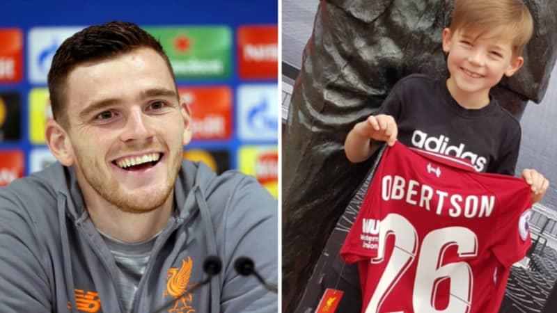 Kid Who Andy Robertson Sent A Roberto Firmino Shirt Buys Robertson Kit