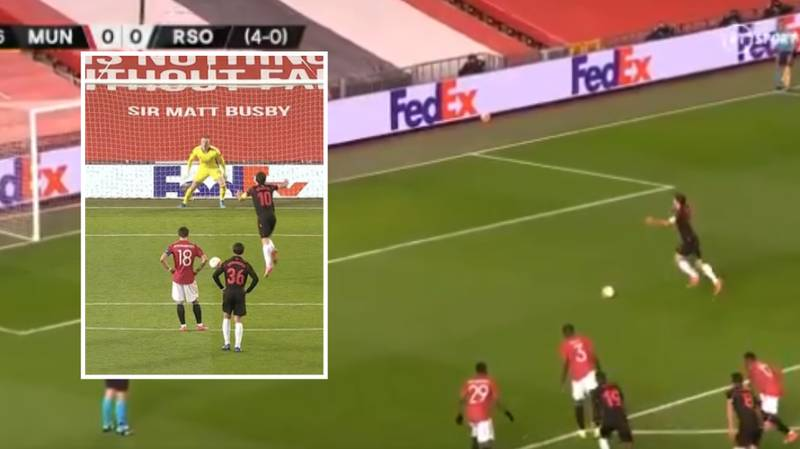 Mikel Oyarzabal Tried To Do A Bruno Fernandes Style Penalty, But Failed Massively