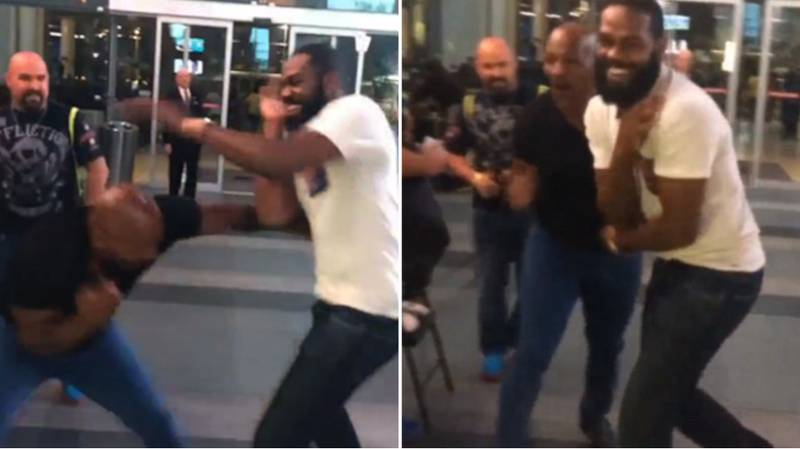 When Mike Tyson Had A 'Quick Sparring Session' With Jon Jones On The Street