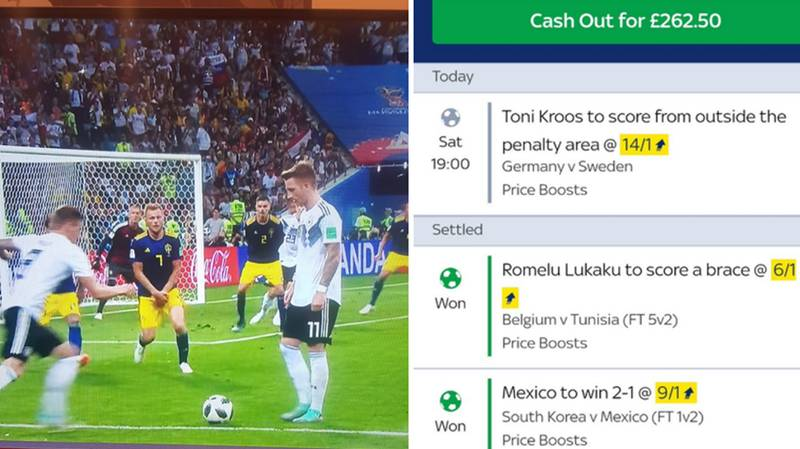 Supporter Narrowly Misses Out On Five Grand After Toni Kroos' Game-Winning Free-Kick Is Taken Inside The Box