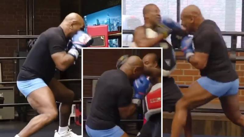 54-Year-Old Mike Tyson Shows Off Terrifying Hand Speed, Head Movement And Power