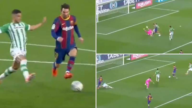Lionel Messi Produces Sublime Dummy During Second Half Masterclass For Barcelona Vs Real Betis