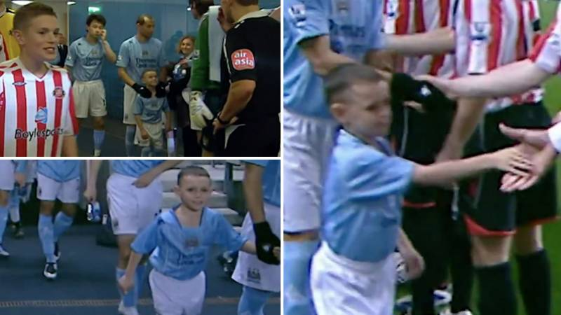 Footage Of A Seven-Year-Old Phil Foden Walking Out At The Etihad Stadium As Manchester City Mascot Is Brilliant