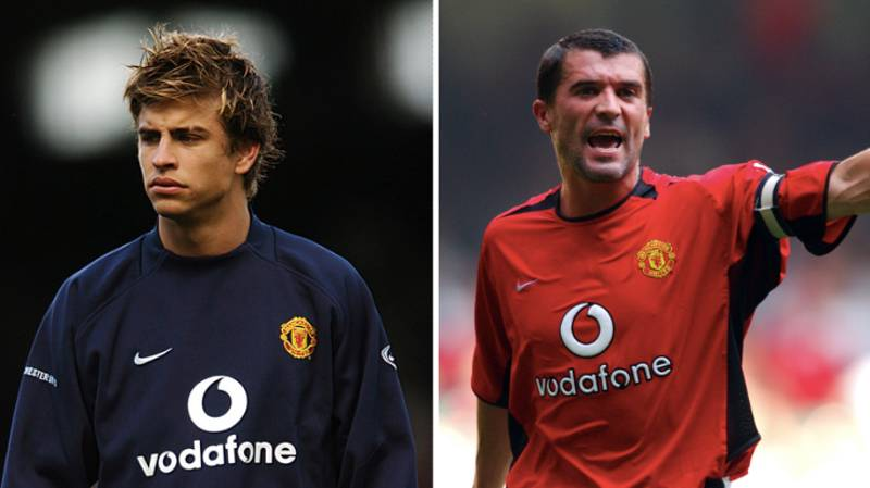 Gerard Pique 'Almost Sh*t Himself' After Incident Involving Roy Keane At Man Utd