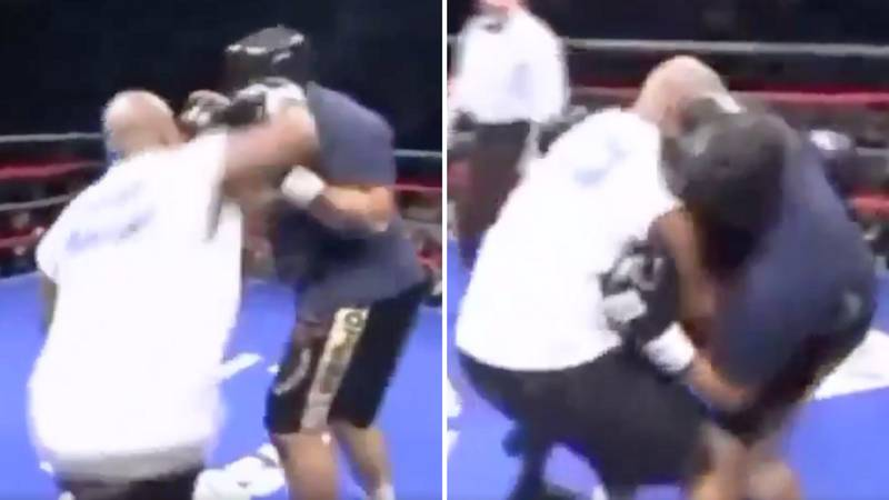 When Mike Tyson Almost KO'd His Charity Opponent With His Trademark Right Hook