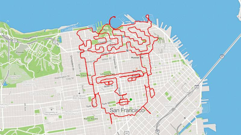 Runner Uses App To Make Elaborate Artwork On His Routes