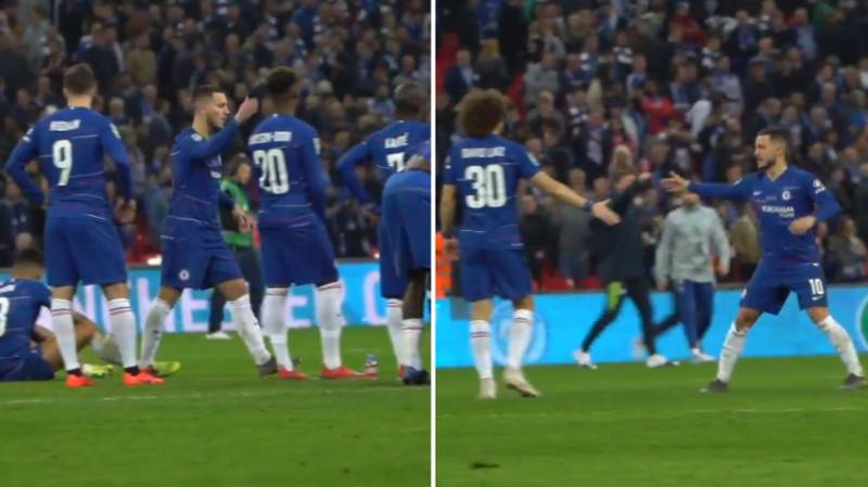 Eden Hazard Consoled All Of His Chelsea Teammates After Penalty Loss