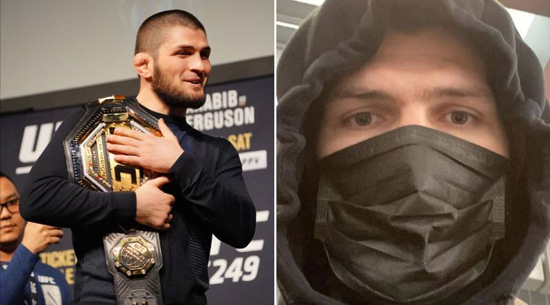 Masked Khabib Nurmagomedov Sends Coronavirus Message As He Trains In Isolation For UFC 249