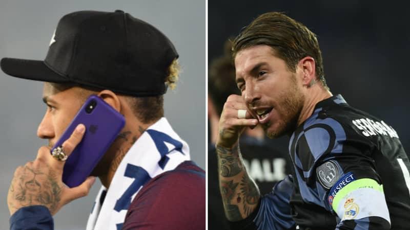 Neymar Phoned Sergio Ramos And Tried To Lure Him To Paris Saint-Germain