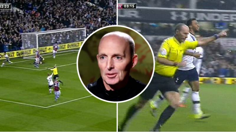Mike Dean Explains Why He 'Celebrated' Spurs Goal Against Aston Villa