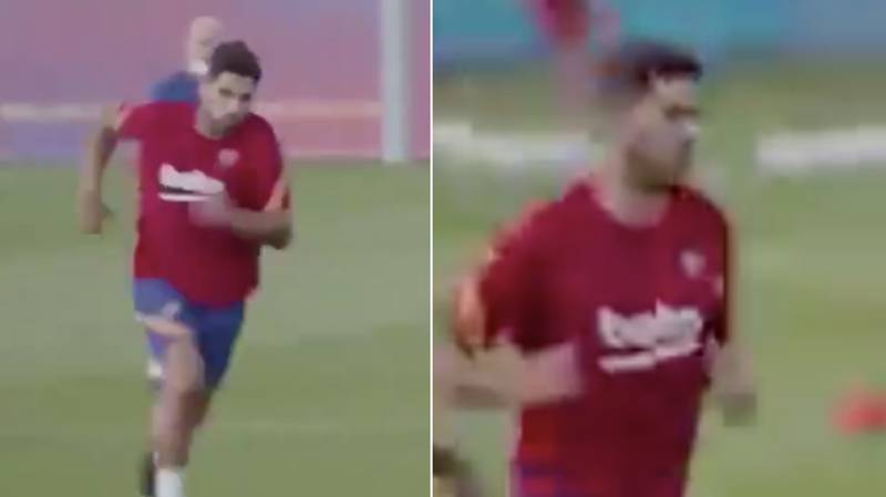 Fans Think Luis Suarez Looked Slow And Heavy In Barcelona Training