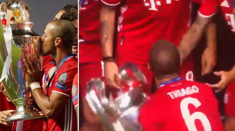 Liverpool Fans Are Convinced Thiago Did The 'Hendo Shuffle' Last Night