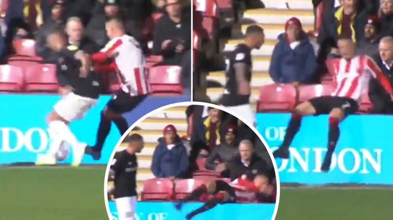 Bristol City's Jack Hunt Hilariously Launches Sergi Canos Into The Stands After Getting Pushed