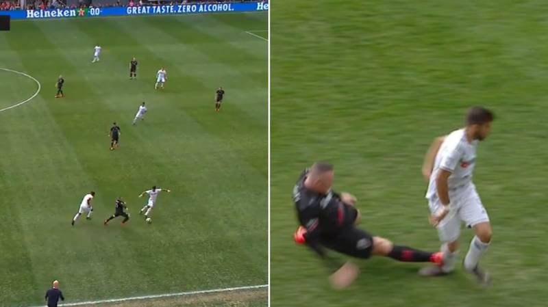 DC United's Wayne Rooney Sent Off For Horrific Tackle On Diego Rossi