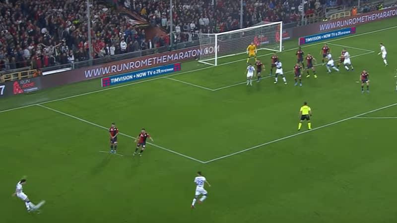 Brescia Sensation Sandro Tonali Bends In Majestic 30-Yard  Free-Kick