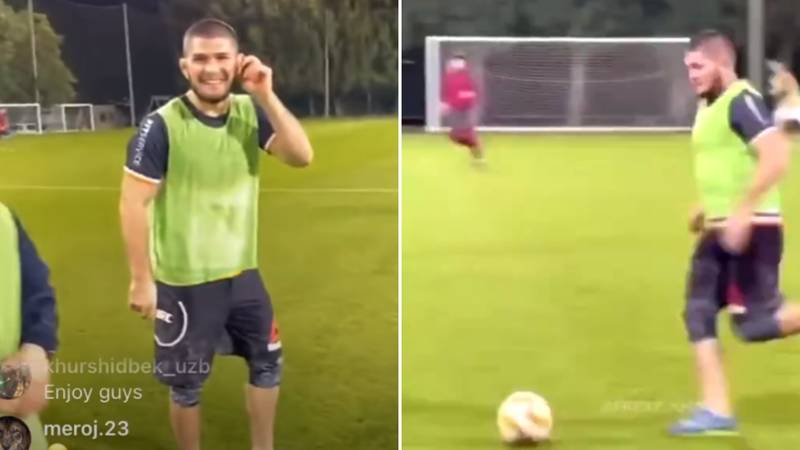 Khabib Is 'In Training' To Become A Professional Footballer - Calls Himself A Free Agent