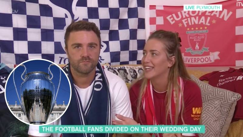 Liverpool Supporter And Spurs Fan Plan To Show The Champions League Final At Their Wedding