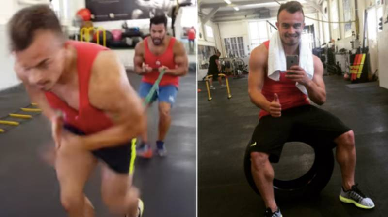 Xherdan Shaqiri's Intense Leg Workouts Are Genuinely Painful To Watch