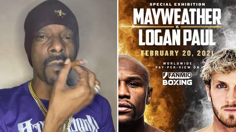 Rap Legend Snoop Dogg Hilariously Responds To Announcement Of Logan Paul Vs Floyd Mayweather