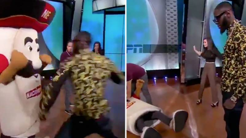 Deontay Wilder Responds After 'Breaking Mascot's Jaw' With Devastating Right-Hand
