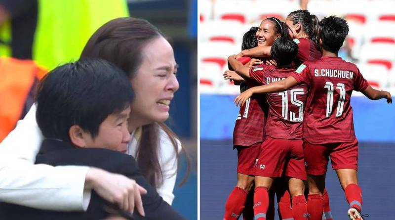 Thailand Score First World Cup Goal And Management Can't Hold Back Their Tears Of Joy