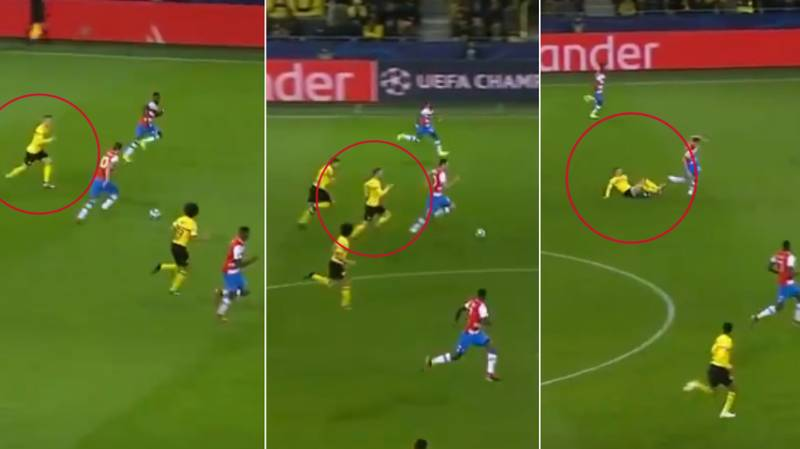 Marco Reus Tracks Back Past Halfway To Stop Club Brugge Counter With A Very Big Tackle