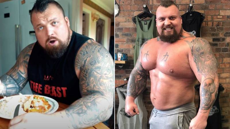 Eddie Hall Has Dramatically Changed His Diet As He Trains For Boxing Match Against 'The Mountain'
