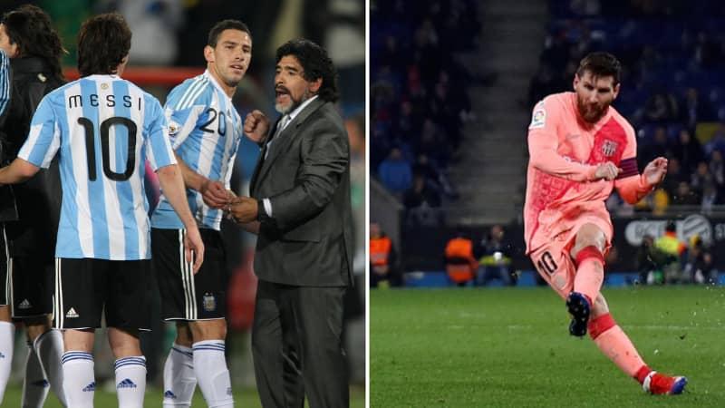The Simple But Effective Piece Of Advice Diego Maradona Gave Lionel Messi Regarding Free-Kicks