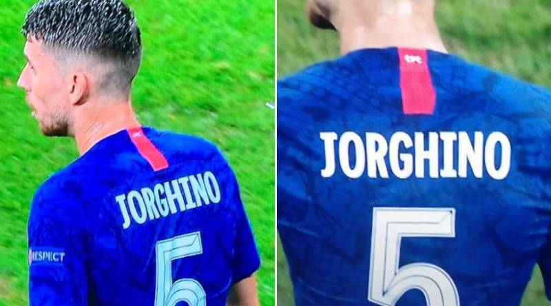 Jorginho Mocked By Chelsea Fans After His Name Is Spelled 'Jorghino' On His Shirt