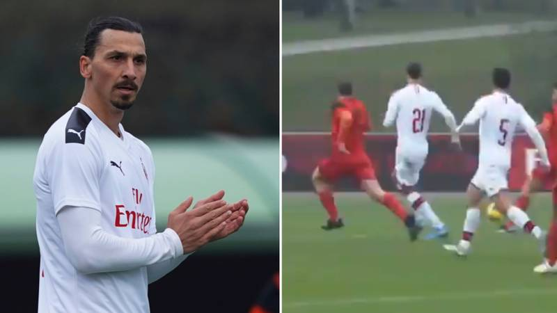 Zlatan Ibrahimovic Scores And Gets Assist On AC Milan Debut In 9-0 Friendly Win