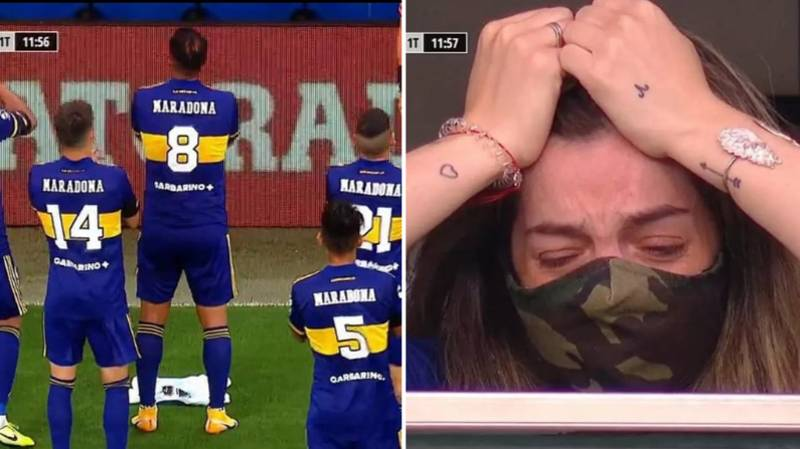 Diego Maradona's Daughter Brought To Tears By Boca Juniors' Tribute To Her Father