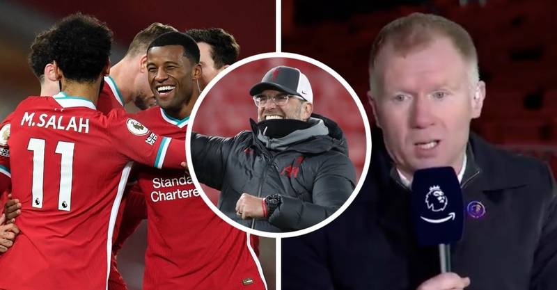 Liverpool Fans Are Loving Paul Scholes After He Backed Them To Retain Premier League Title