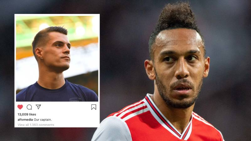 Pierre-Emerick Aubameyang's Brother Deletes Comment About Granit Xhaka's Arsenal Captaincy