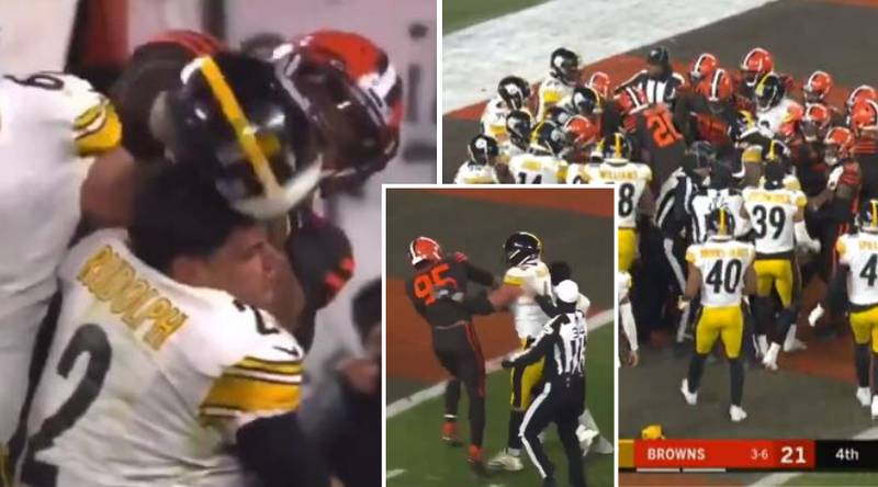 Myles Garrett Starts Wild Brawl By Assaulting Opponent With Own Helmet