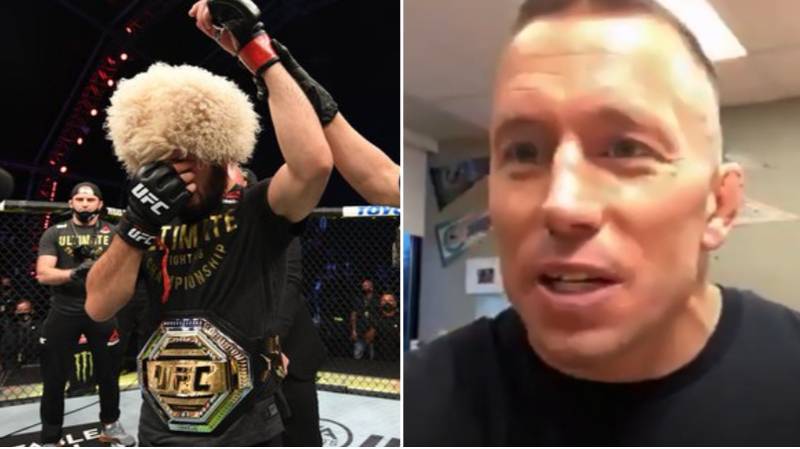 Georges St-Pierre Gives His Honest Opinion On Khabib Nurmagomedov's Retirement From MMA