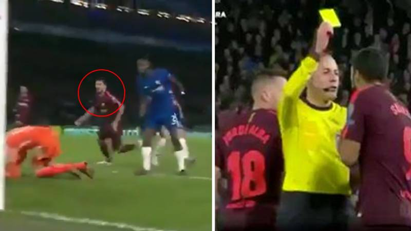 Why Luis Suarez Was Shown A Yellow Card Against Chelsea Last Night