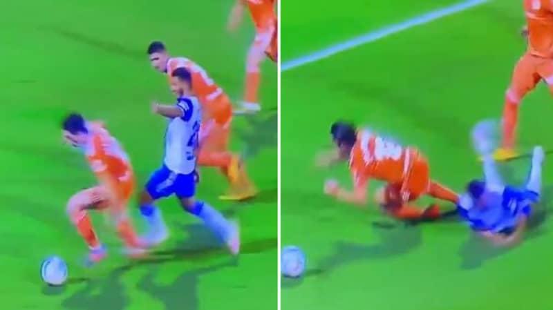 Real Zaragoza Awarded Penalty For Striker Fouling The Defender