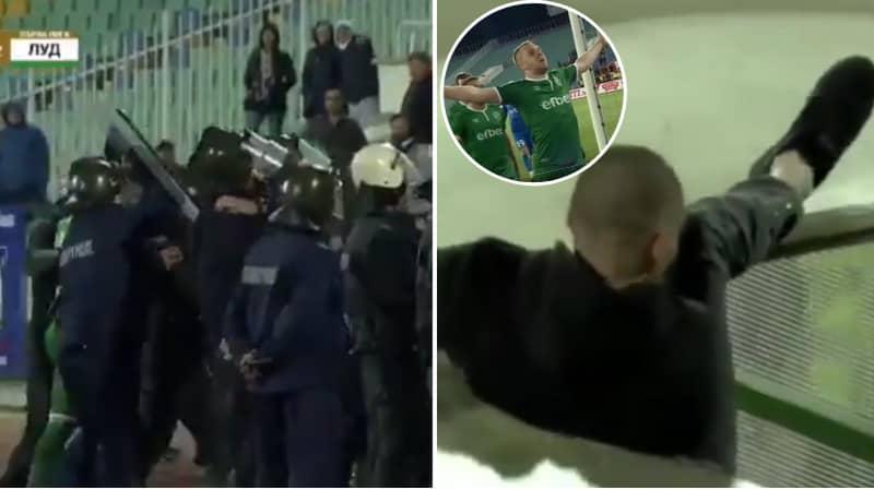 Ludogorets' Cosmin Moti Needs Police Escort Stadium, Levski Fan Falls Through Tunnel Trying To Attack Him