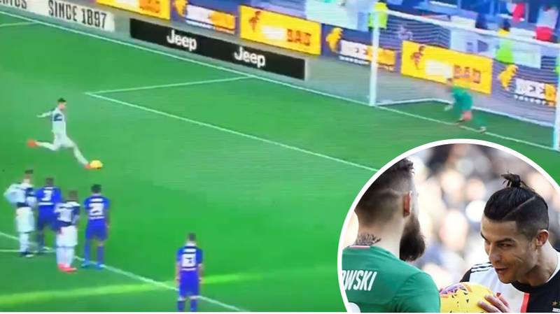 Cristiano Ronaldo Proves He's Mentally Bulletproof After Fiorentina Goalkeeper Tried To Play Mind Games