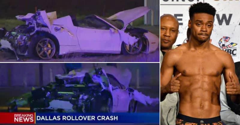 Errol Spence Jr In Serious Condition After Flipping Ferrari In Horrific High-Speed Crash