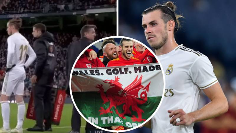 Gareth Bale Speaks Out About Real Madrid Fan's Reaction To His 'Wales, Golf, Madrid' Flag