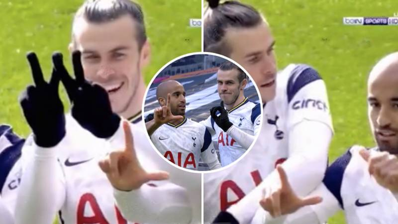Gareth Bale's Priceless Reaction To Lucas Moura Trying To Get Involved With He And Heung-Min Son's Celebration