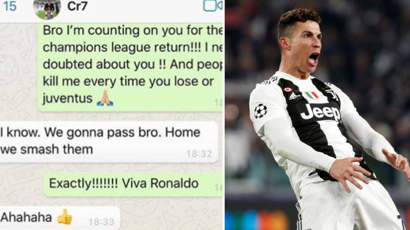 Patrice Evra Shares WhatsApp Chat With Cristiano Ronaldo Ahead Of Hat-Trick Against Atletico Madrid