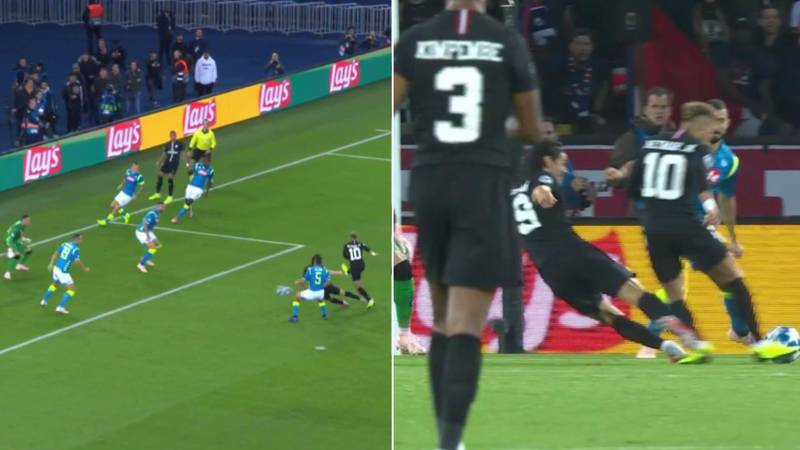 Edinson Cavani Genuinely Stops Neymar From Scoring With Slide Tackle In First Minute
